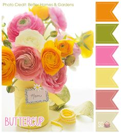 Buttercup Color Palette - Inspire Sweetness  http://inspiresweetness.blogspot.com/