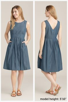 Beautiful & Practical Clothing For Women – Seasalt Cornwall Stained Glass Dress Simple Dresses, Casual Dresses, Summer Dresses, Vintage Dress Patterns, Vintage Dresses, Linen Dresses, Cotton Dresses, Dress Outfits, Fashion Dresses