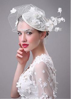 fe2b3fbffe7e9 DRESSES ·  16.99  In Stock Delicate Flax Yarn With Lace Appliques Birdcage  Veil - shemarriage. Wedding HatsWedding ...
