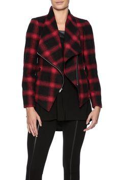 Asymmetrical Plaid Jacket   Shoptiques Veste À Carreaux, Blazer, Jeans,  Garde Robe Capsule af9577f0f50