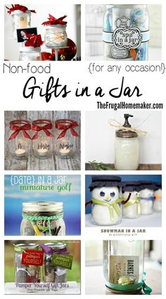 Non-food Gifts in a Jar (for any occasion!)   Day 7 of 31 days to take the Stress out of Christmas