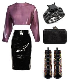 Love me in latex by anthonymed on Polyvore featuring moda, Sydney-Davies, Givenchy, Giuseppe Zanotti and House of Harlow 1960