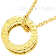BVLGARI-B-zero1-Necklace-18K-YG-332358-332221-Pendant-Jewelry-Authentic-3164686