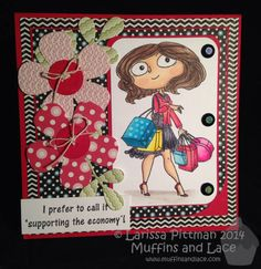 Larissa Pittman for Muffins and Lace Kraftin Kimmie Stamps Sarah Shopper Stamp