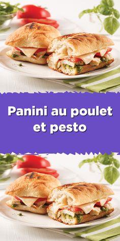 Sandwich Croque Monsieur, Pain Garni, Bagels, Pesto, Sandwiches, Croissant, Sandwich Recipes, New Recipes, Hot Dogs