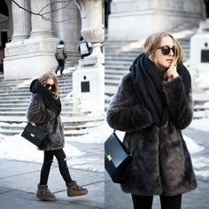 Coat, Jeans, Scarf, Bag, Boots