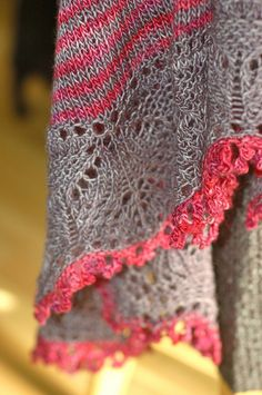 Cladonia shawl- I'm currently knitting this in pink and purple, but I do love this pink and grey one!