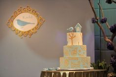 Clyde's Little Blue Bird Themed Party - Cake