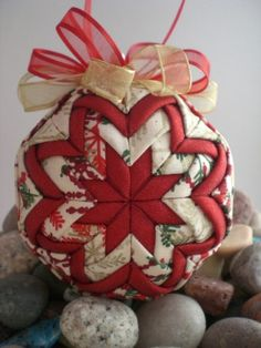 Handmade Quilted Christmas Ornament Snowflake by NorthernKeepsakes, $16.00