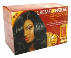 Creme of Nature with Argan Oil No-Lye Relaxer Regular by Crème of Nature. $5.99. Infused with certified organic Argan Oil. Continuous protection as it straightens. Advanced straigthening with luminous shine. Creme of Nature with Argan Oil No-Lye Relaxer provides advanced straightening with luminous shine.. Save 25% Off!