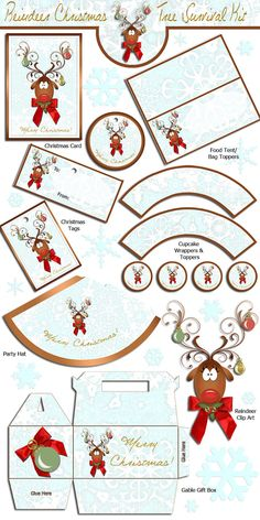 Reindeer Christmas Tree  Christmas Survival Set  by SweetBootique
