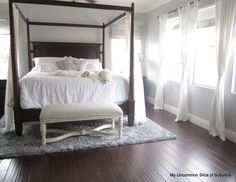 Dark Wood Canopy Bed poster bed personalities | modern canopy bed, steel canopy and bed