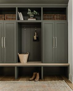 Laundry Room Inspiration, Home Decor Inspiration, Tall Cabinet Storage, Locker Storage, Mudroom Laundry Room, What House, Built Ins, Home Projects, Building A House