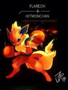Flareon and hitmonchan