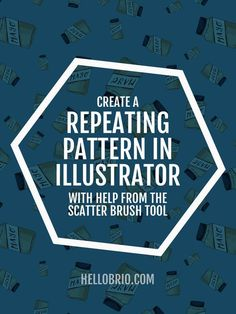 Click through to learn how to create a seamless repeating pattern in Illustrator with help from the Scatter Brush tool. Perfect for a start in surface pattern design!: