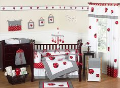 Lady bug nursery bedding treats your baby to sweet dreams of flight on tiny ladybug wings. Decorate with a sweet little ladybug for your sweet little ladybug's nursery. Girl Crib Bedding Sets, Girl Cribs, Crib Sets, Nursery Bedding, Baby Cribs, Girl Nursery, Comforter Set, Nursery Decor, Bedding Shop