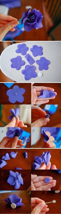 DIY Easy Fabric Flower LIKE Us on Facebook ==> https://www.facebook.com/UsefulDiy