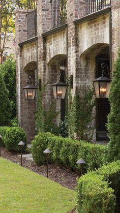 "OUTDOOR LIGHTING TIP ""When selecting outdoor lighting, I think you really need to stay true to the style of the house and choose lighting that is in the same vein. I don't think outdoor lighting is the place to be eclectic."" RYAN KORBAN NEW YORK CITY Outdoor Wall Lighting, Outdoor Walls, Ceiling Lighting, Lighting Ideas, Exterior Design, Interior And Exterior, Beautiful Gardens, Beautiful Homes, Path Lights"