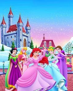 Disney Princesses in the winter