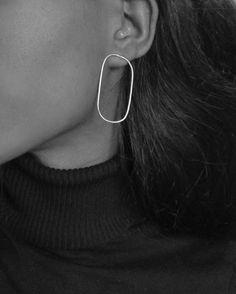 Adas Earrings silver earrings fashion in style black and white