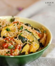 Healthy Dinner Recipes, Diet Recipes, Vegetarian Recipes, Cooking Recipes, Healthy Food, Good Food, Yummy Food, Vegetable Pasta, Paleo