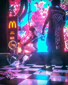 """Neon Dystopia"": The Superb Cyberpunk Digital Art By Jonathan Plesel - illustrations Cyberpunk City, Cyberpunk Kunst, Cyberpunk Aesthetic, Neon Aesthetic, Cyberpunk 2077, Cyberpunk Fashion, Cyberpunk Anime, Music Aesthetic, Steampunk Fashion"