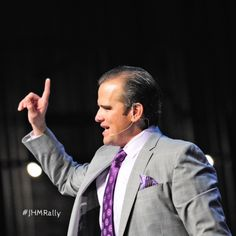 "Pastor Matthew Hagee preaching and answering the question ""When was God at His best?"" at the Sacramento #JHMRally!"
