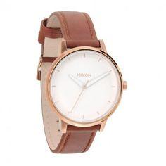Kensington Leather Rose Gold White boîtier acier bracelet cuir - Nixon - Bracelets cuir - Types de bracelets - Montres Femme