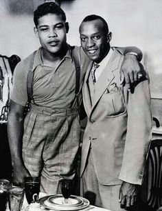 Joe Louis and Jesse Owens
