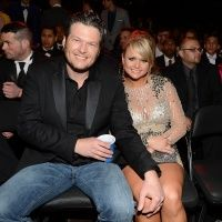 Blake Shelton and Miranda Lambert attend the 55th Annual GRAMMY Awards