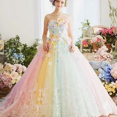 Christina Wu The Rainbow Collection Pinterest Pastel Flowers And Bridal Gowns
