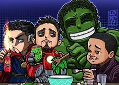 """Lord Mesa Art — """"Lunchers Assemble!!!"""" All colored up!!..."""