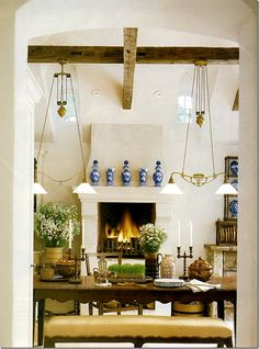 The view looking into the breakfast room by Dan Carithers,  as found on Cote de Texas