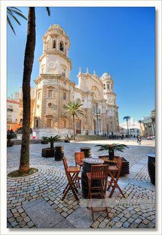 Plaza de La Catedral in Cádiz - Andalusia, Spain