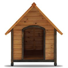 The Arf Frame Dog House is a Real Wood Home for your woofer. One of Pet Squeak's most popular Dog Houses, the Arf-Frame provides your pet their own comfortable habitat. The Arf Frame Dog House is a ''Close Fitting'' habitat for many breeds of dog who prefer a tighter den. If your dog requires more space, consider purchasing this house in the next larger size. Please compare listed dimensions to the size of your pet.