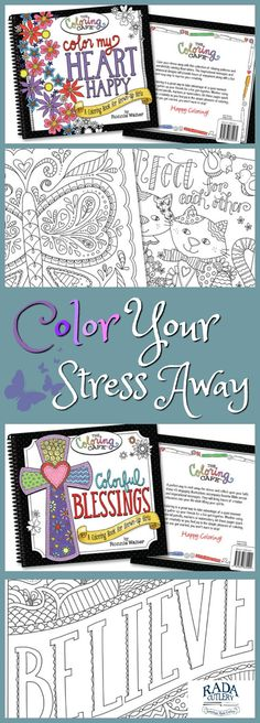Color Your Stress Away With This Coloring Book Of Relaxing Patterns And Calming Illustrations The Thoughful Messages Whimsical Designs Will Provide