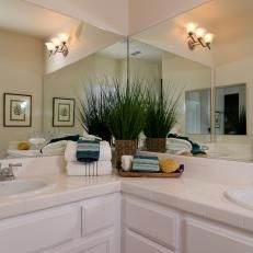 Image result for corner double vanity