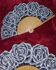 Need to add to my collection. Antique Fans, Vintage Fans, Beautiful Roses, Beautiful Hands, Hand Held Fan, Hand Fans, Chinese Fans, Fan Decoration, Silk Art