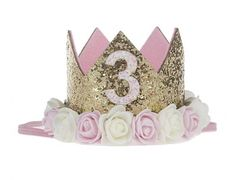 Baby girl first birthday hair band crown birthday crown
