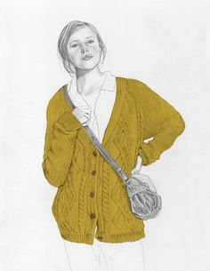 UO sweater illustrated by Jenny Mortsel