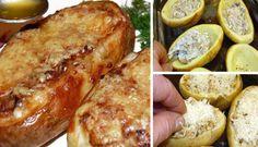 Brambory plněné houbovou nádivkou | NejRecept.cz French Toast, Pork, Meat, Breakfast, Pork Roulade, Pigs, Pork Chops