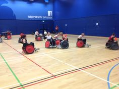 Canadian Wheelchair Rugby Team training at the University of Leeds for the London 2012 Paralympics