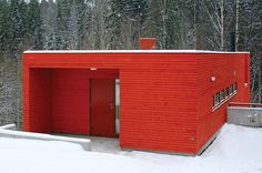 jarmund red house exterior  beautiful image!
