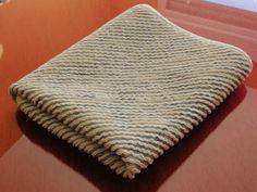 Patchwork desde la Alpujarra: Paso a paso la técnica de chenilla para una mantita de bebé.