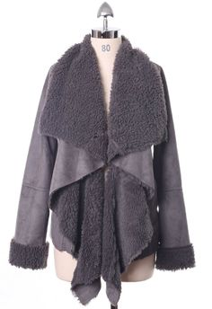 #chicwish  Chicwish Drape Aspen Jacket in Ash - Outers - Retro, Indie and Unique Fashion