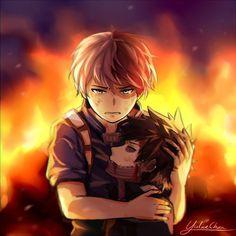 My Hero Academia Shouto, My Hero Academia Episodes, Hero Academia Characters, Boku No Academia, Otaku Anime, Sad Anime, Image Triste, Bakugou Manga, Familia Anime