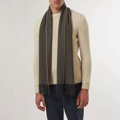 Brown Herringbone Scarf. 100% recycled cashmere. Made in Italy, with love. Only at Sir Plus. #sustainable #ethical #cashmere #scarf #mensfashion #menswear #winter #fashion #fall #fallfashion #fallwinter2017