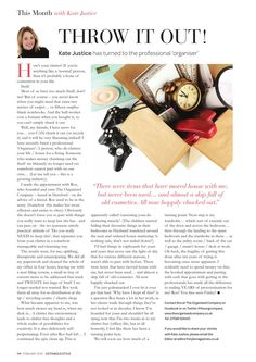 Ros Hayes of The Organised Company in Herefordshire helps Kate Justice of Cotswold Style magazine sort her stuff