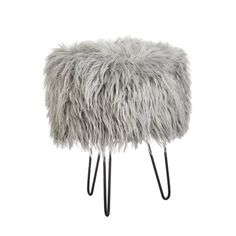 Accent your new vanity with the Patrice Round Faux Fur Vanity Stool for a comfortable, cozy perch from which to get ready for the day. This stool. Fuzzy Stool, Faux Fur Stool, Bedroom Crafts, Bedroom Stuff, Bedroom Decor, Bedroom Stools, Bedroom Inspo, Bedroom Ideas, Childrens Rocking Chairs