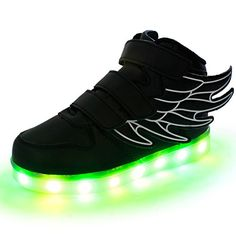 DoGeek Light Up Shoes Led Angel Wings Boys Traniers Lighting Tennis Flashing Sneakers For Christmas Gift -- To view further for this item, visit the image link.